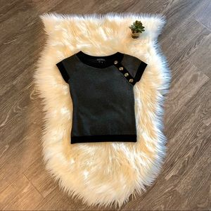 XOXO black&dark gray sweater style shirt w/buttons